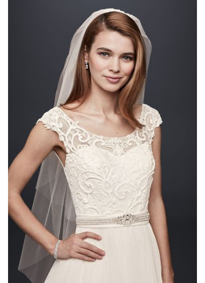 Two Tiered Elbow Length Veil - Wedding Accessories