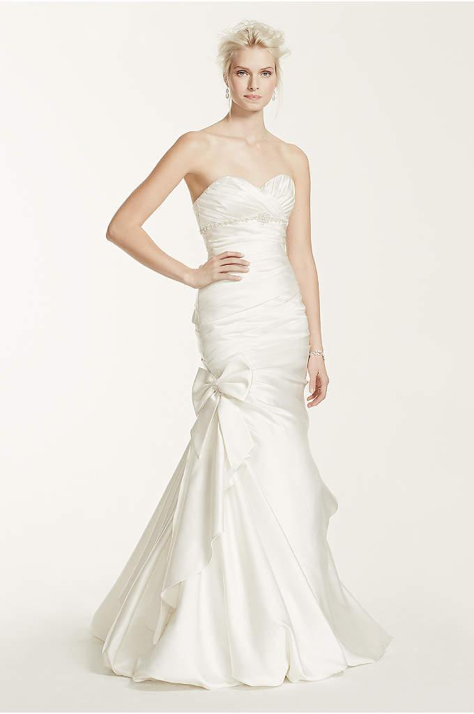 d78e12615 Satin Mermaid Wedding Dress with Bow Detail | David's Bridal