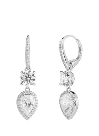 Nadri Grey (Double Cubic Zirconia Sterling Silver Earrings)