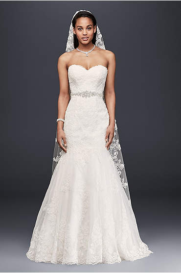 Sweetheart Trumpet Wedding Dress with Beaded Sash