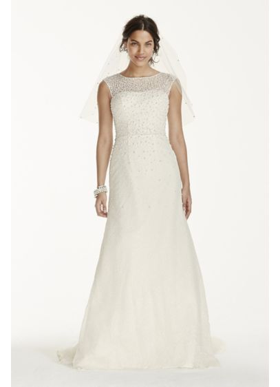 Long Sheath Formal Wedding Dress - Jewel