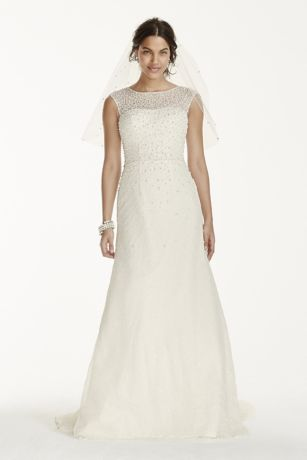 Elegant Long Sheath Formal Wedding Dress   Jewel