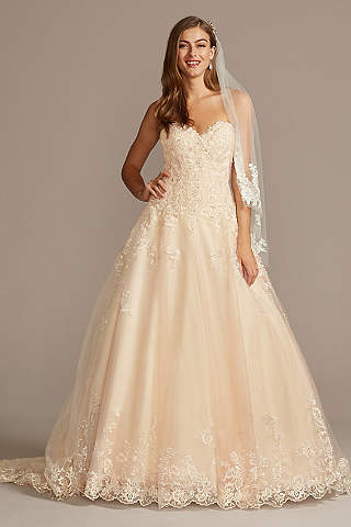 Long Ballgown Formal Wedding Dress Jewel