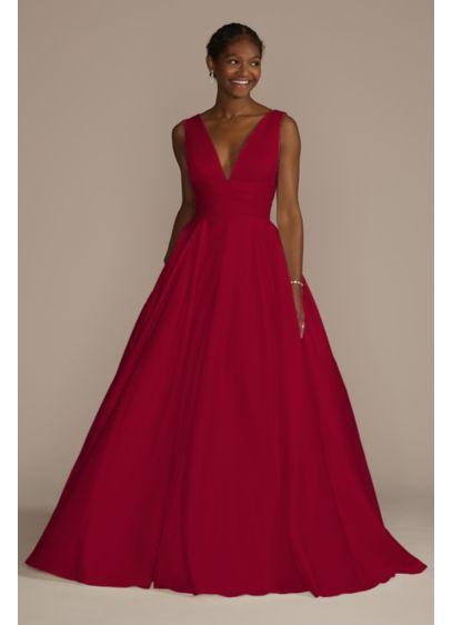 Satin Cummerbund Ball Gown Wedding Dress - A traditional wedding dress with just a hint