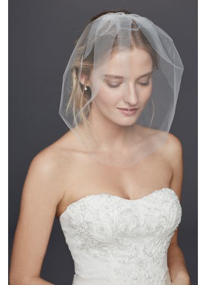 Multi Crystal Blusher Veil with Comb - Wedding Accessories