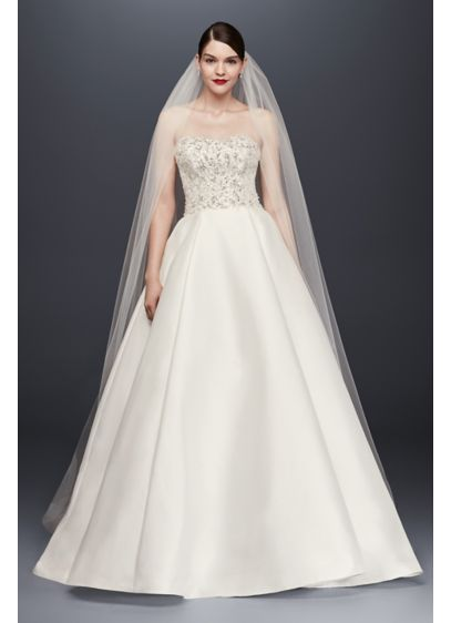 Single-Tier Raw Edge 144-Inch Cathedral Veil - Wedding Accessories