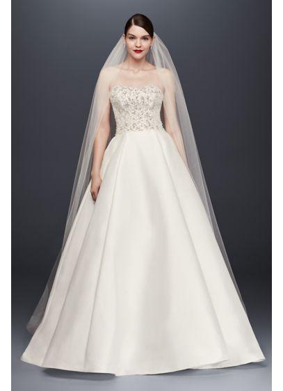 David's Bridal White (Single-Tier Raw Edge 144-Inch Cathedral Veil)
