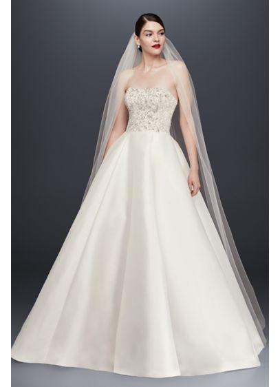 David's Bridal White (Single-Tier Raw Edge 165-Inch Cathedral Veil)