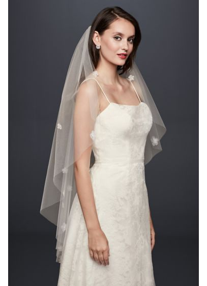 David's Bridal Ivory (3D Floral Elbow-Length Veil)