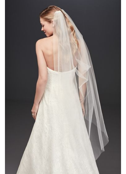 Single-Layer Tulle Drape Veil - Wedding Accessories