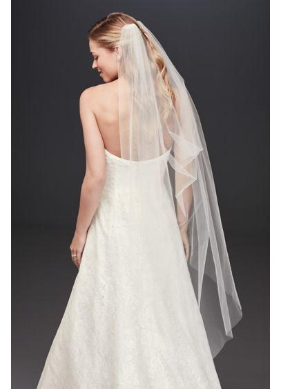 David's Bridal Ivory (Single-Layer Tulle Drape Veil)