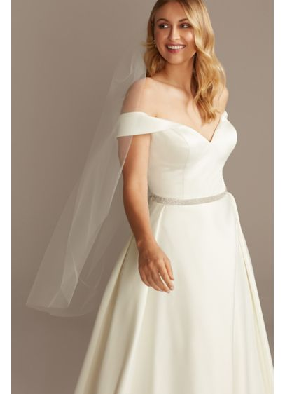 Raw-Edge Tulle Mid-Length Veil - Wedding Accessories