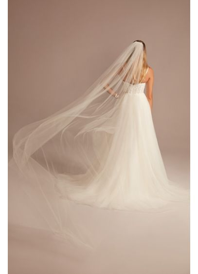 Cathedral-Length Shimmer Tulle Veil - Wedding Accessories