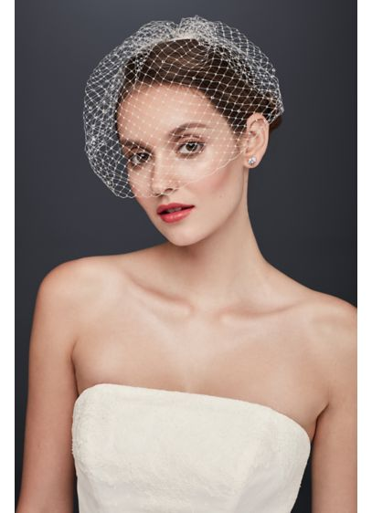 Black Russian Tulle Blusher and Scattered Crystals - Wedding Accessories