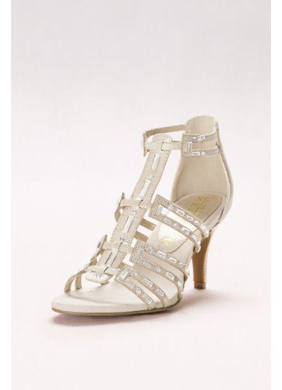 New York Transit Ivory (Baguette-Strap Gladiator Heels)