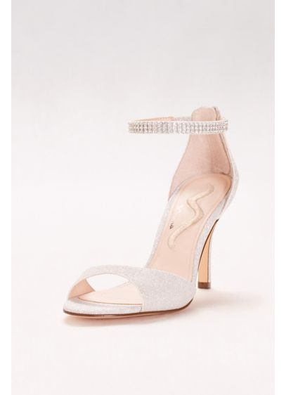 Touch of Nina Grey (Rhinestone Ankle Strap Two-Piece Pumps)