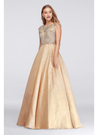 Long Ballgown Cap Sleeves Formal Dresses Dress - David's Bridal