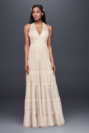 A Line Halter Dress