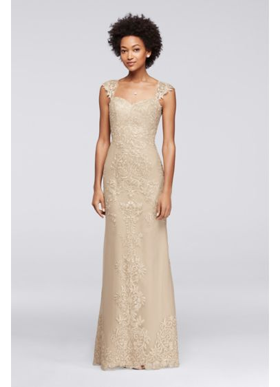 Long Sheath Cap Sleeves Formal Dresses Dress - Viola Chan