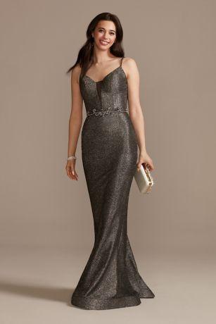 Long Mermaid / Trumpet Spaghetti Strap Dress - Jules and Cleo