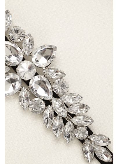 Large Stretch Faceted Stone Headband - Wedding Accessories