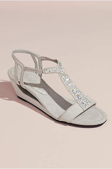 Embellished Open Wedge Sandals