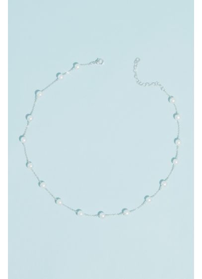 Pearl Station Necklace - Wedding Accessories