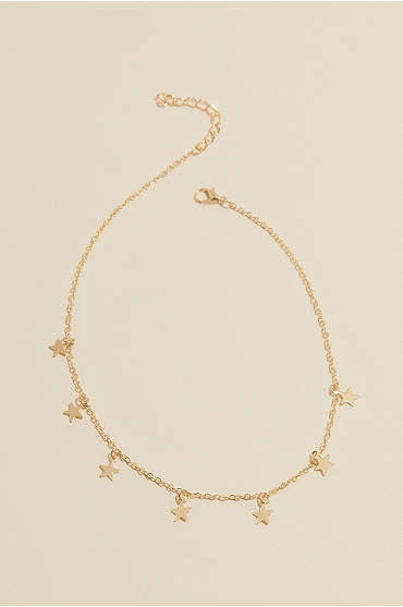 Choker Necklace with Dangling Motif
