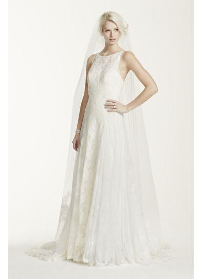 Lace Edged Bottom Chapel Veil - Wedding Accessories
