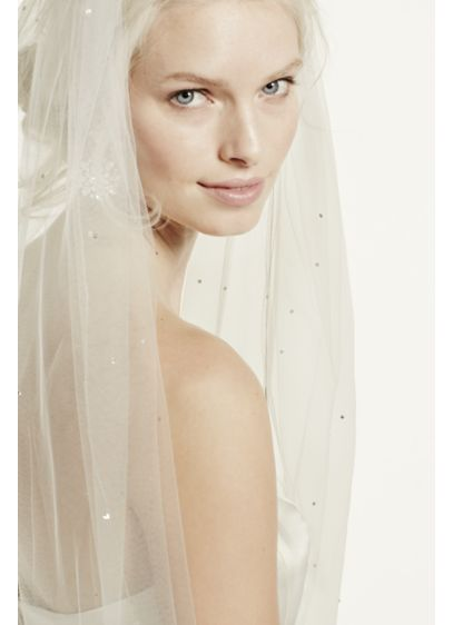 Starry Night Inspired Cathedral Veil with Crystals - Wedding Accessories