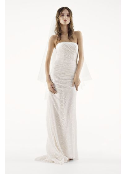 Long Sheath Beach Wedding Dress - White by Vera Wang fc70a6695