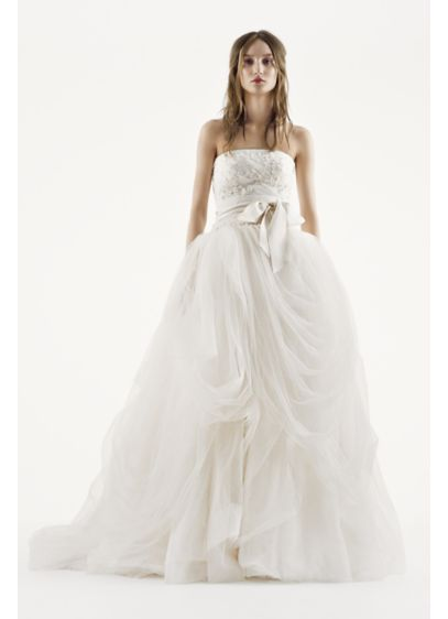 c72fa07a94f2 White by Vera Wang Tossed Tulle Wedding Dress | David's Bridal