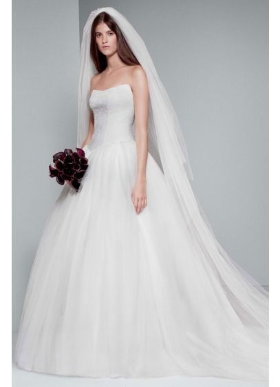 9680262a66 Long Ballgown Modern Wedding Dress - White by Vera Wang