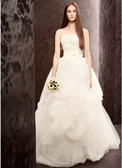 Long Ballgown Modern Wedding Dress White By Vera