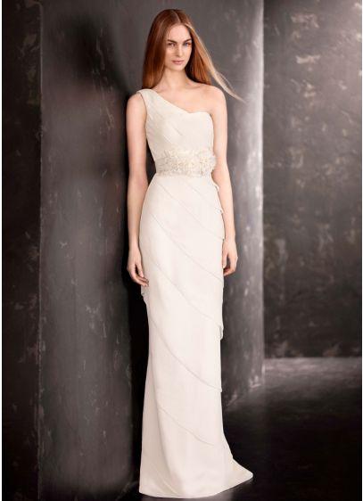 Long Sheath Modern Wedding Dress - White by Vera Wang