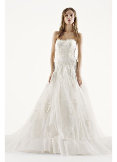 Long A-Line Modern Chic Wedding Dress - White by Vera Wang