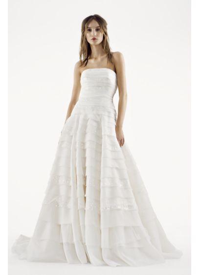 Long A-Line Modern Wedding Dress -