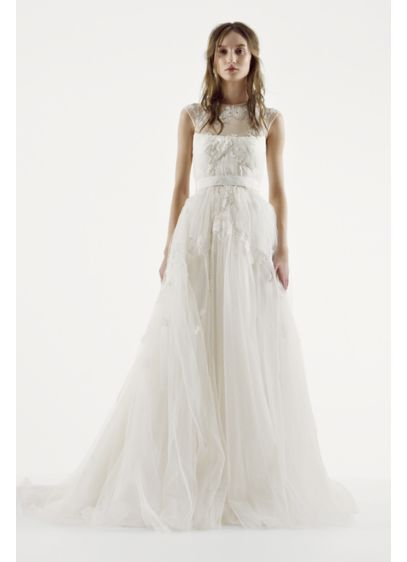 Long Ballgown Country Wedding Dress - White by Vera Wang