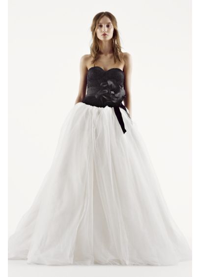 Long Ballgown Glamorous Wedding Dress - White by Vera Wang