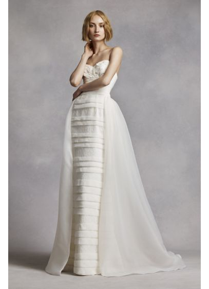 Long Sheath Formal Wedding Dress - White by Vera Wang
