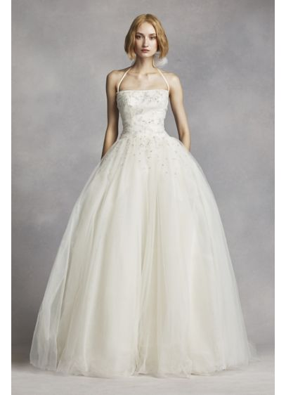 8d07209f334 Long Ballgown Modern Wedding Dress - White by Vera Wang
