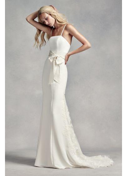 White by Vera Wang Spaghetti Strap Wedding Dress | David's Bridal