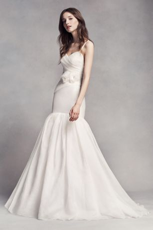 Vera Wang Mermaid Wedding Dresses with Sash