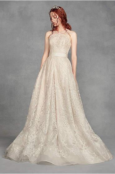 White by Vera Wang Macrame Lace Wedding Dress