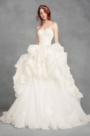 White Organza Wedding Dresses