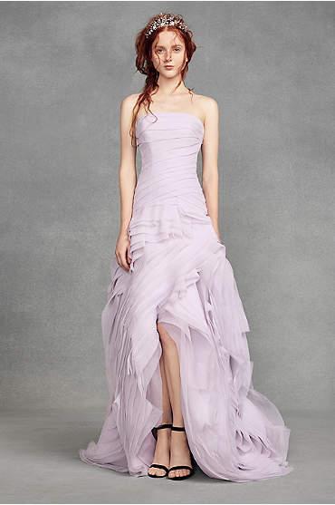 White by Vera Wang Organza High-Low Wedding Dress