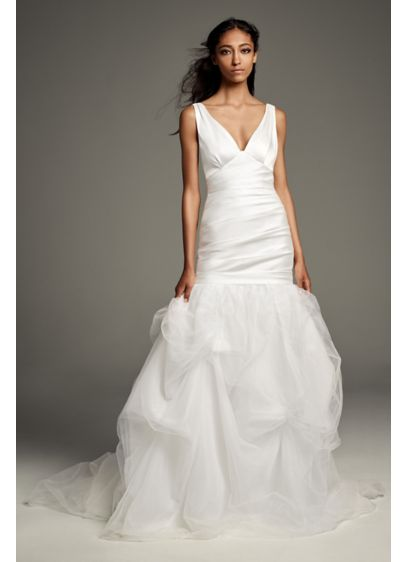 Mikado Wedding Dress with Tossed Tulle Skirt - Developed exclusively for the White by Vera Wang