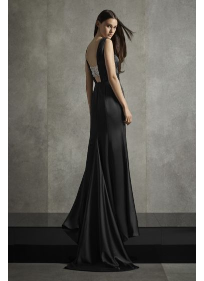 Crepe-Back Satin Gown with Encrusted Bandeau - A gown for the modern minimalist (who still