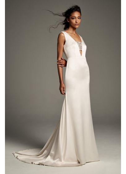 1af289dc61c Long Sheath Casual Wedding Dress - White by Vera Wang