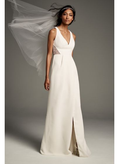 Long Sheath Formal Wedding Dress - White by Vera Wang